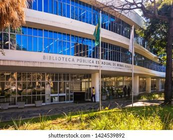 Belo Horizonte/Minas Gerais/Brazil - June 14th 2019: Minas Gerais State Public Library
