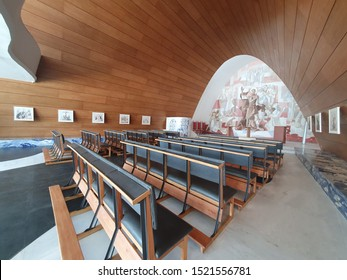 Belo Horizonte/Minas Gerais/Brazil - October 03rd 2019: Pampulha Church (Igreja da Pampulha - Church of Saint Francis of Assisi) After Restoration Works and Before the Reopening on October 4th 2019