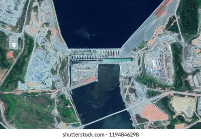 Belo Monte Dam and Hydropower Plant Construction in Brazil ( 12400x7971px) - Belo Monte will be second biggest hydropower plant after Itaipu Dam in Brazil
