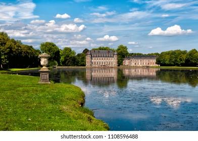 Beloeil castle in Belgium view from the garden