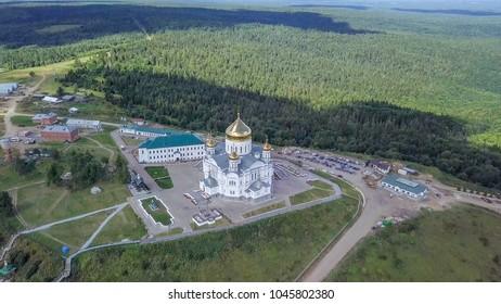 Belogorsky St. Nicholas Orthodox-Missionary Monastery. Russia, Perm Territory, White Mountain