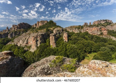 The Belogradchik Rocks are an shaped sandstone conglomerate rock near the town of Belogradchik, Balkan Mountains, Bulgaria