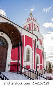 BELOUSOVO, RUSSIA - FEBRUARY 2017: Elizabethan church in Belousovo