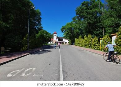 Belovezhskaya Pushcha, Belarus - 12 Jun 2015. Belovezhskaya Pushcha in Belarus country