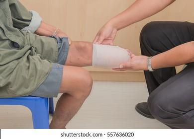 below knee stump bandaging