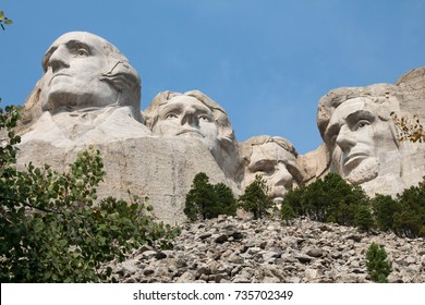 Below Mount Rushmore in South Dakota