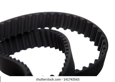 belt car engine timing belt isolated on white background