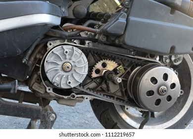 belt replacement pulley transmission on the scooter. continuously variable transmission (CVT)