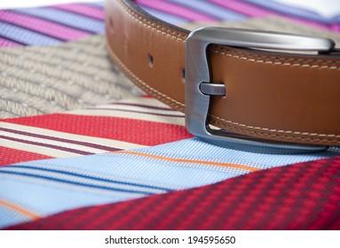 belt and tie
