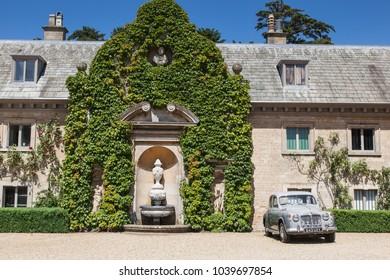 Belton Hall, Lincolnshire, England June 18 2017: Vintage Rover car photographed at Belton Hall, Lincolnshire.