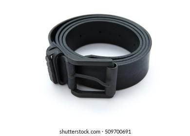 belts on a white background