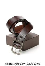 belts on white background