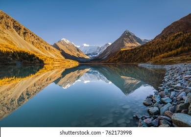 Belukha Mountain on Lake Akkem, Altai Republic, Russia