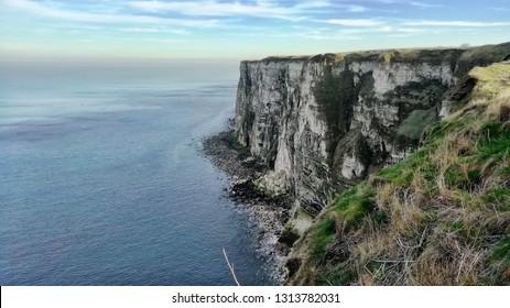 Bempton Cliffs, Flamborough in Fenruary - horizon view