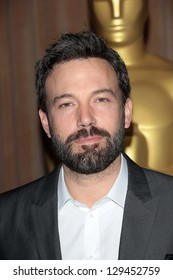 Ben Affleck at the 85th Academy Awards Nominations Luncheon, Beverly Hilton, Beverly Hills, CA 02-04-13