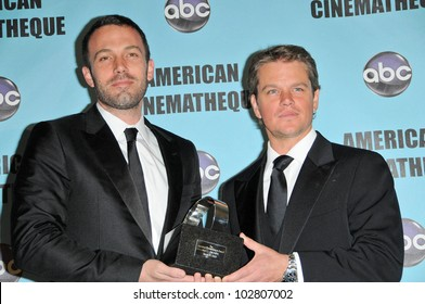 Ben Affleck and Matt Damon at the 24th Annual American Cinematheque Award Ceremony Honoring Matt Damon, Beverly Hilton hotel, Beverly Hills, CA. 03-27-10