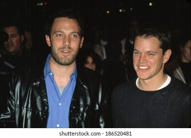 Ben Affleck and Matt Damon at premiere of PROJECT GREENLIGHT, NY 11/27/2001