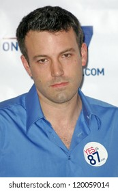 Ben Affleck at a press conference supporting Prop 87, USC, Los Angeles, CA 10-27-06