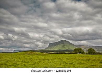Ben Bulben Mountain in Sligo, Ireland, on the western coast