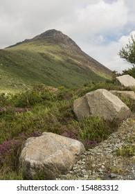 Ben Cromb mountain in the mourne mountain range North Ireland