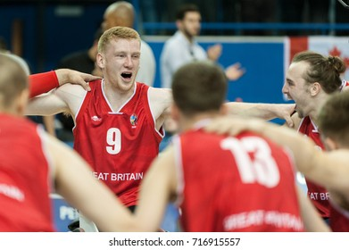 Ben Fox during medal ceremony at 2017 Menâ??s U23 World Wheelchair Basketball Championship which takes place at Ryerson's Mattamy Athletic Centre, Toronto, ON, on June 08 -16, 2017