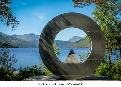 Ben Lomond monument, Loch Lomond, Scotland