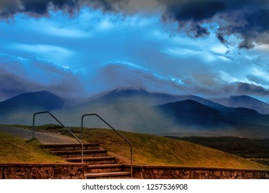 Ben Nevis- the highest mountain in the British Isles.Grampian Mountains in the Lochaber area of the Scottish Highlands, close to the town of Fort William.