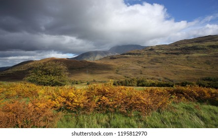Ben Nevis, highest mountain in the UK with her head in the clouds in Autumn.