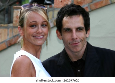 Ben Stiller and Christine Taylor at the 3rd Annual Wine Tasting Event: Vintage Hollywood 2004 held at Brentwood, California United States on June 5, 2004.