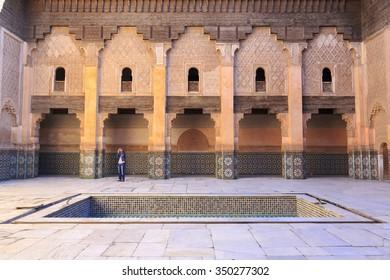 Ben Yussef Medersa at Marrakech, Morocco. 25-02-2015