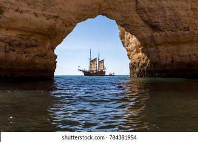benagil cave in Portimao   Portugal