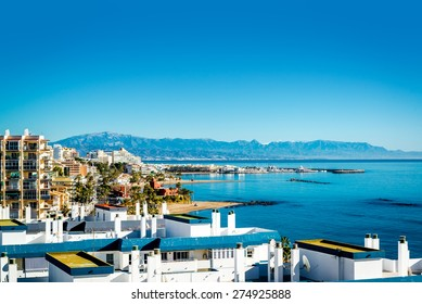 Benalmadena coast. Benalmadena is a town in Andalusia in southern Spain