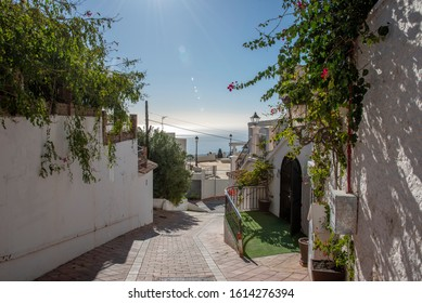 Benalmadena Pueblo Andalucia Spain at the mediterranean sea