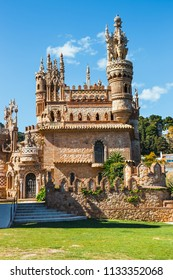 Benalmadena, Spain, April 08, 2018: Colomares is a monument honoring Cristopher Colombus and the discovery of America. Was built between 1987 and 1994