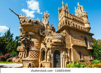 Benalmadena, Spain, April 08, 2018: Colomares castle in Benalmadena, dedicated of Christopher Columbus, Spain