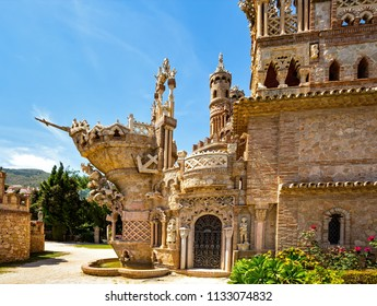 Benalmadena, Spain, June 07, 2018: Colomares is a monument honoring Cristopher Colombus and the discovery of America. Was built 1987-1994.