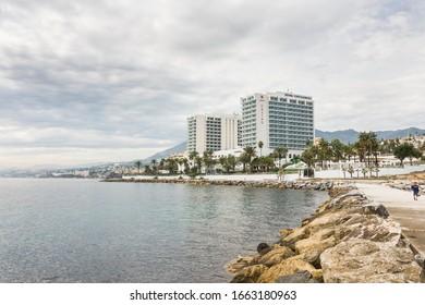 Benalmadena,/ Spain. October 16. 2018. Hotel Estival Torrequebrada, Casino at Mediterranean sea.,
