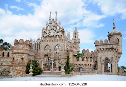 Benalmadena, Spain -September 24, 2009: Castillo de Colomares. Monument, in the form of a castle, dedicated to the life and adventures of Christopher Colombus