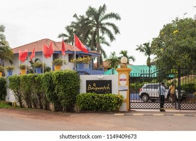 Benaulim,Goa/India- Aug 2 2018: Entrance of Baywatch Beach Resort at Benaulim Goa