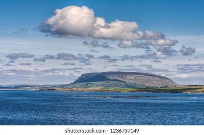 Benbulben Mountain Atlantic Ocean Sligo Ireland