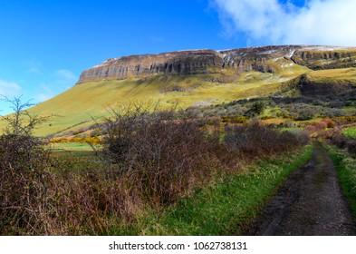 Benbulben table mountain landscape sligo ireland irish travel attraction wild atlantic