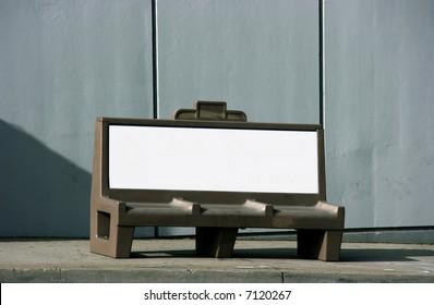 Bench advertising