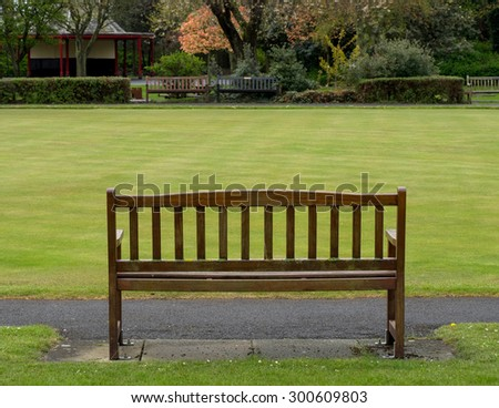 Remarkable Bench Bowling Green Stock Photo Edit Now 300609803 Gmtry Best Dining Table And Chair Ideas Images Gmtryco