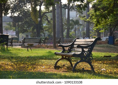 A bench at evening