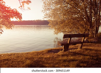 Bench at the Lakeshore