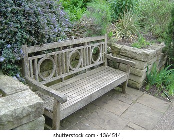 Bench in a London park