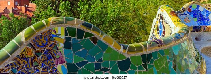 bench mosaic ceramics