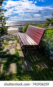 bench on sea background beautiful landscape