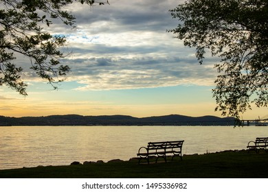 Bench Overlooking the Hudson River