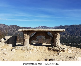 Bench overlooking the mountains, Cherry Canyon, Glendale, CA